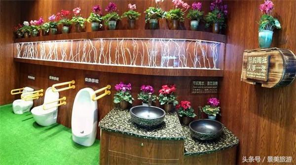 广东创博会展出景区园林厕所,游客进去如厕,