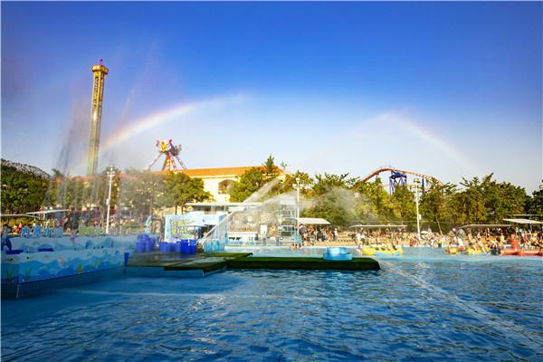 要看彩虹有太阳就行,佛山盈香生态园营造出彩